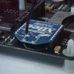 XBee module on LPC2148 board