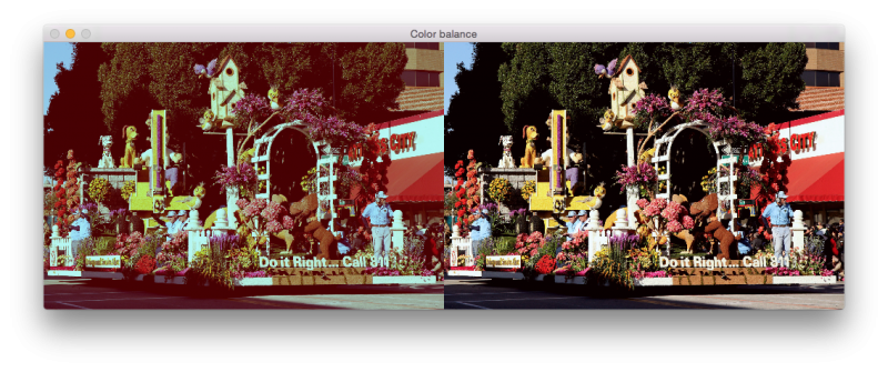 Simplest Color Balance with OpenCV [w/code] | More Than